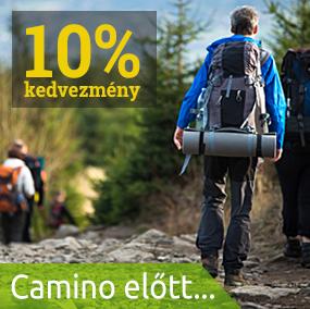 10% kedvezmény Camino előtt