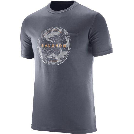 SALOMON Crest Pocket SS Tee férfi póló