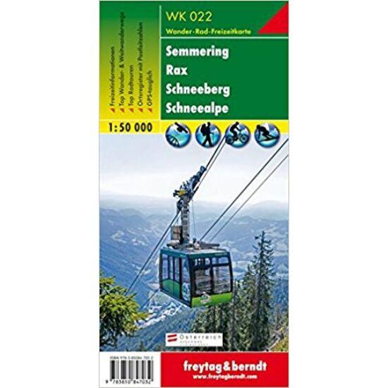 Rax, Schneeberg turistatérkép WK 022
