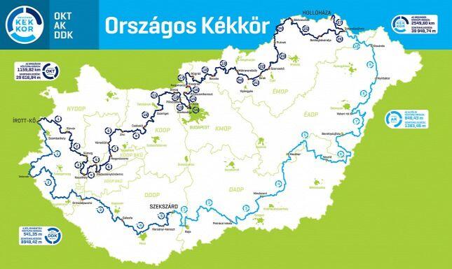 Az Országos Kékkör útvonala