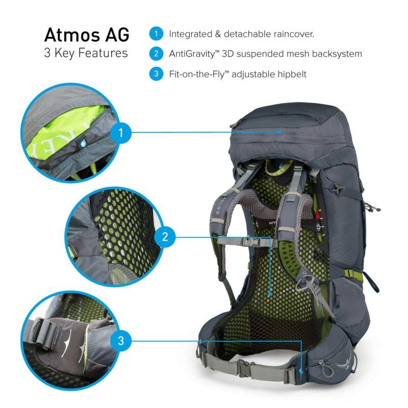 69216e1f8372 OSPREY Atmos AG 65 hátizsák - Geotrek világjárók boltja